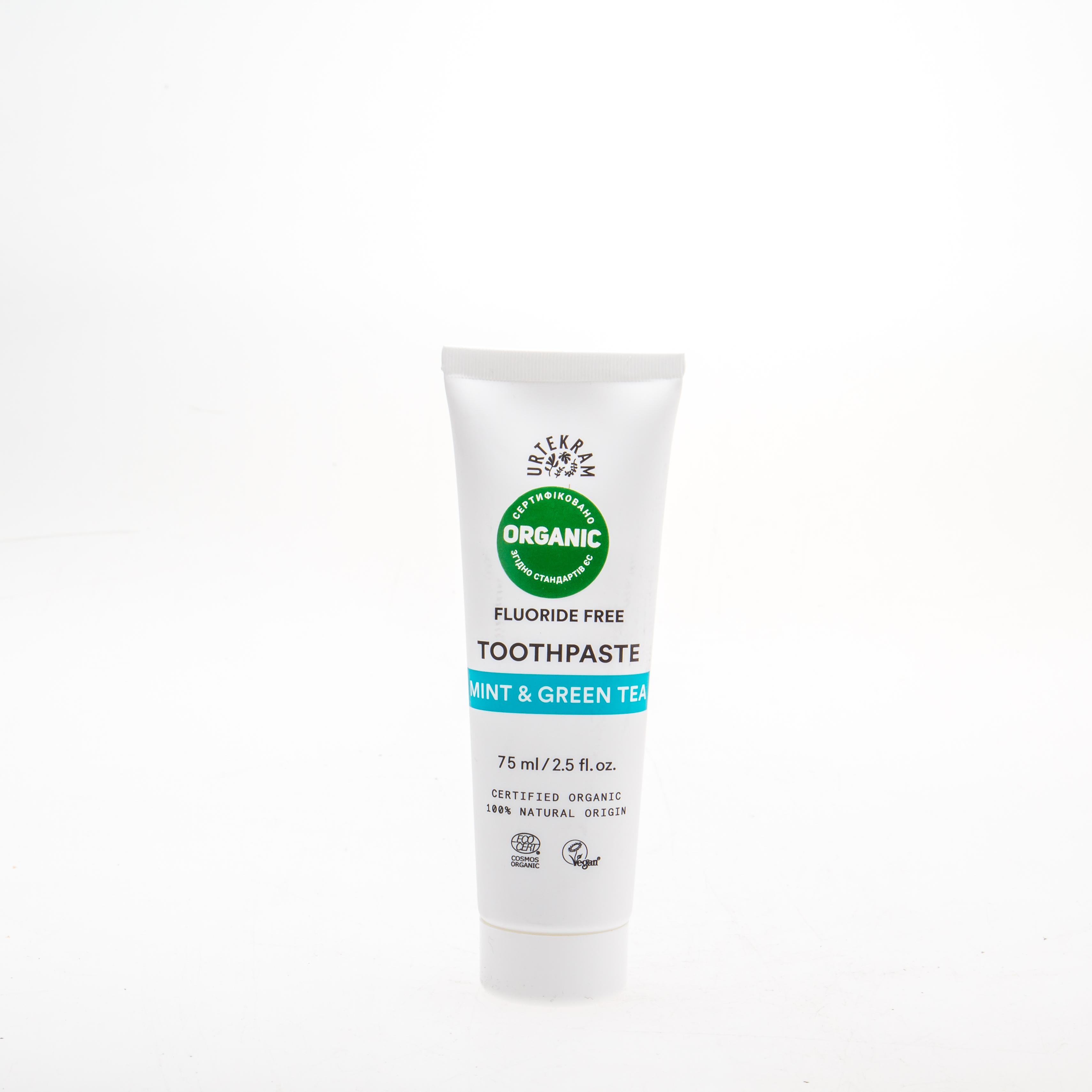 Urtekram Органічна зубна паста Зелений чай/ М'ята, 75 мл - купить в интернет-магазине Юнимед