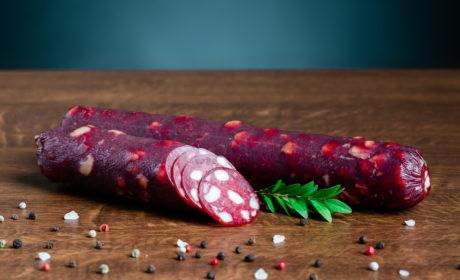 Ковбаса Салямі Organic Meat Тоскана сирокопчена органічна вищого сорту, нарізана, 80г - купить в интернет-магазине Юнимед