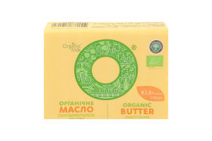 Масло солодковершкове органічне  82,6 %, 200 г - купить в интернет-магазине Юнимед