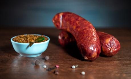 Ковбаски Organic Meat твердокопчені органічні вищий сорт 350г - купить в интернет-магазине Юнимед