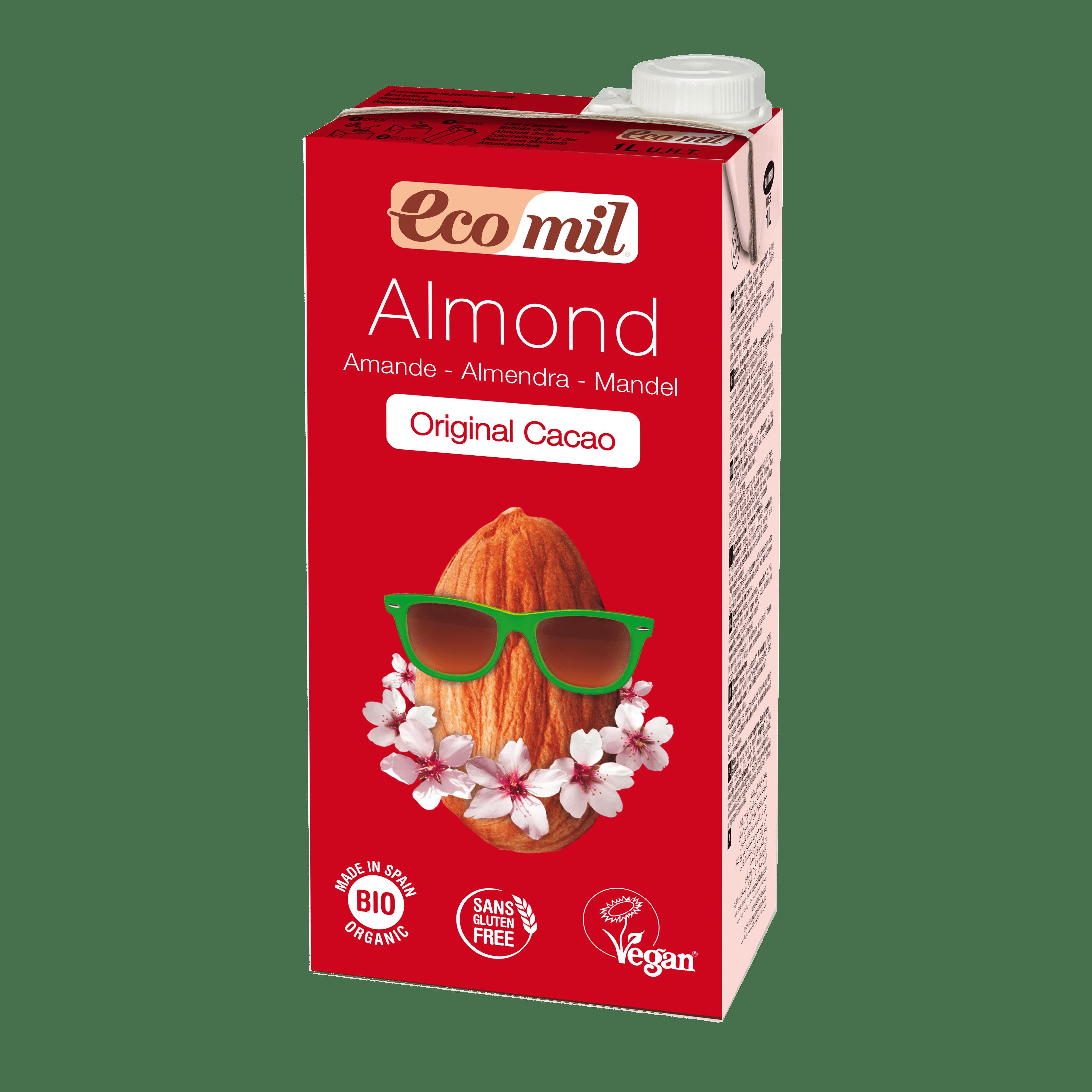 Органічне рослинне молоко з мигдалю з сиропом агави і з какао, 1л - купить в интернет-магазине Юнимед