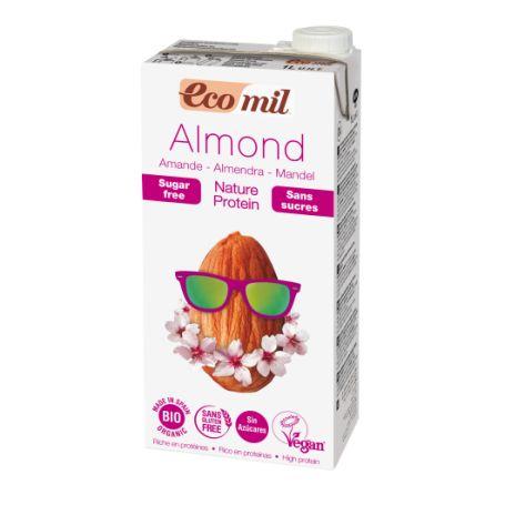 Органічне рослинне молоко з мигдалю з протеїном без цукру, 1л - купить в интернет-магазине Юнимед