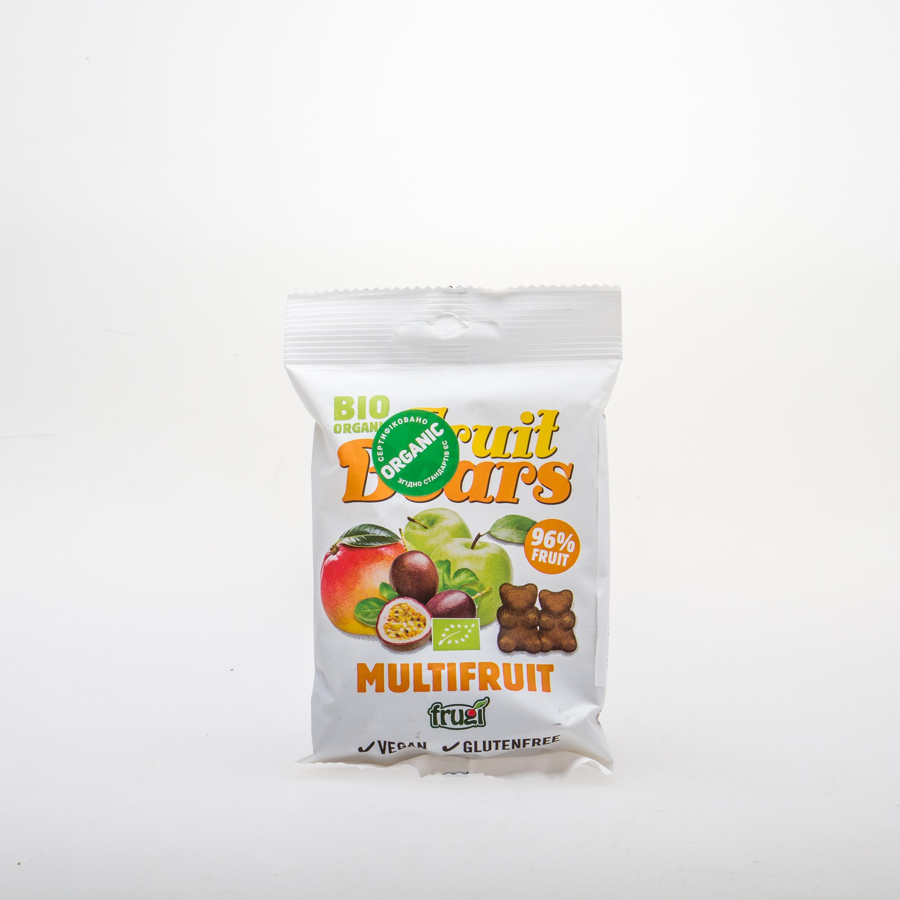 Органічні фруктові ведмежуйки зі смаком яблука, манго та маракуї - купить в интернет-магазине Юнимед