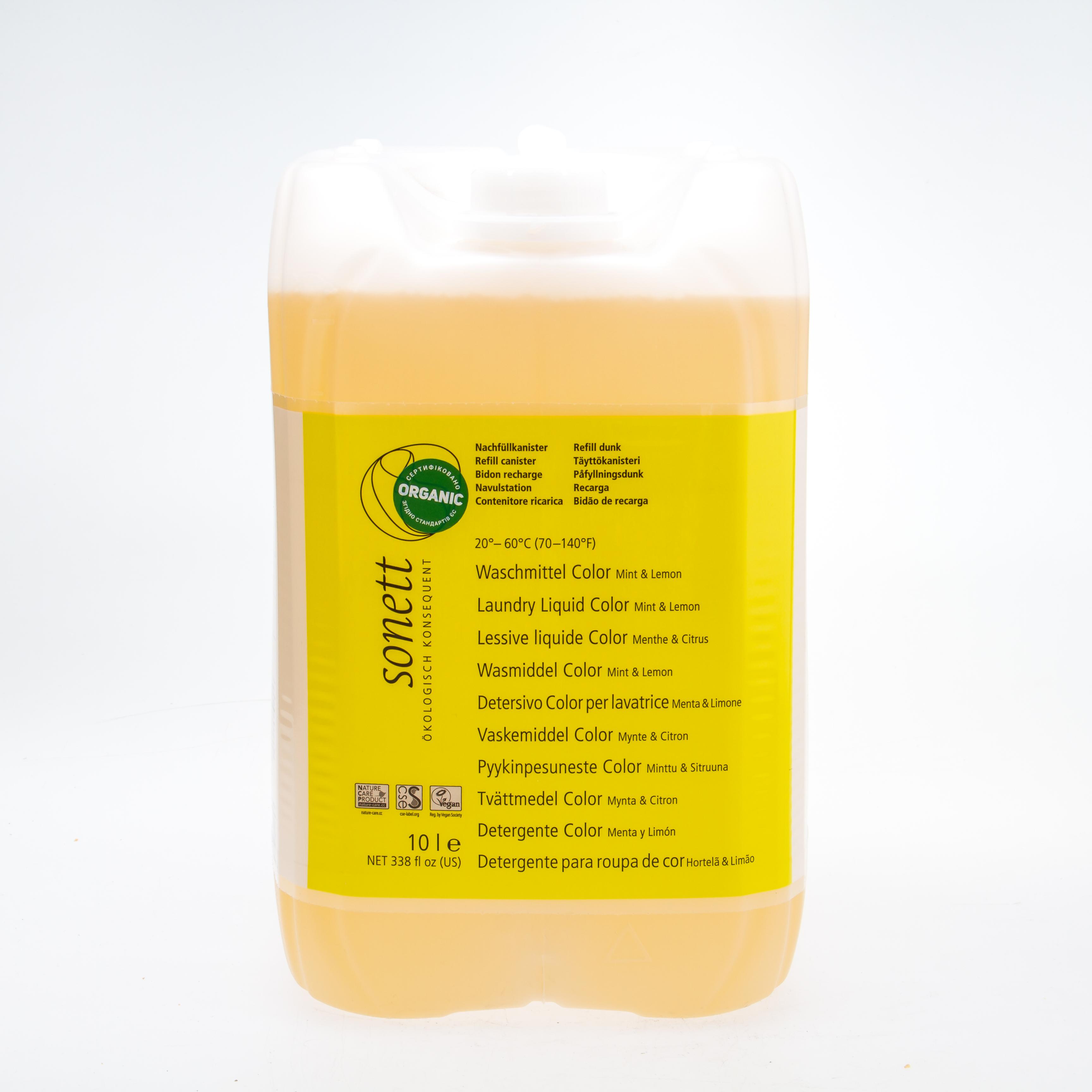 Sonett Органічний рідкий пральний засіб для кольорових тканин. 10л. Концентрат - купить в интернет-магазине Юнимед