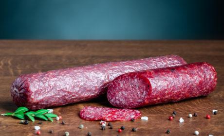 Ковбаса Салямі Organic Meat Венеція сиров'ялена вищого сорту, нарізана, 80 г - купить в интернет-магазине Юнимед