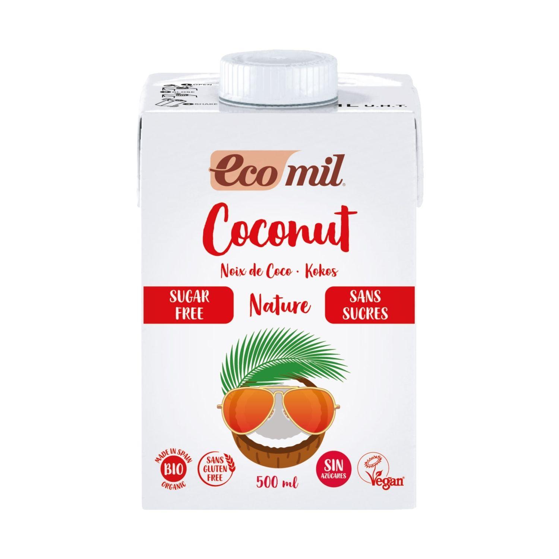Органічне рослинне молоко з кокосу без цукру, 0,5л - купить в интернет-магазине Юнимед