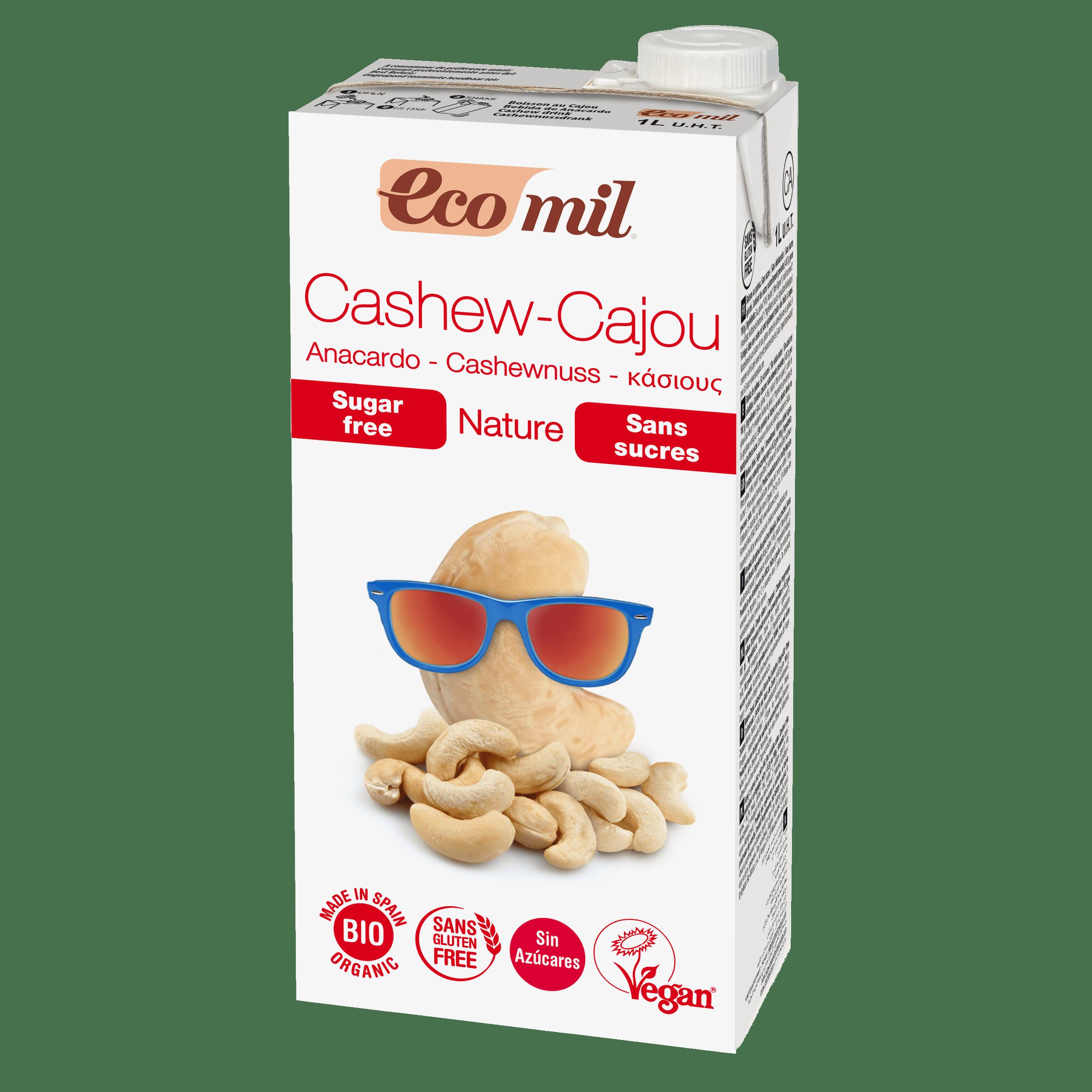 Органічне рослинне молоко з кешью без цукру, 1л - купить в интернет-магазине Юнимед