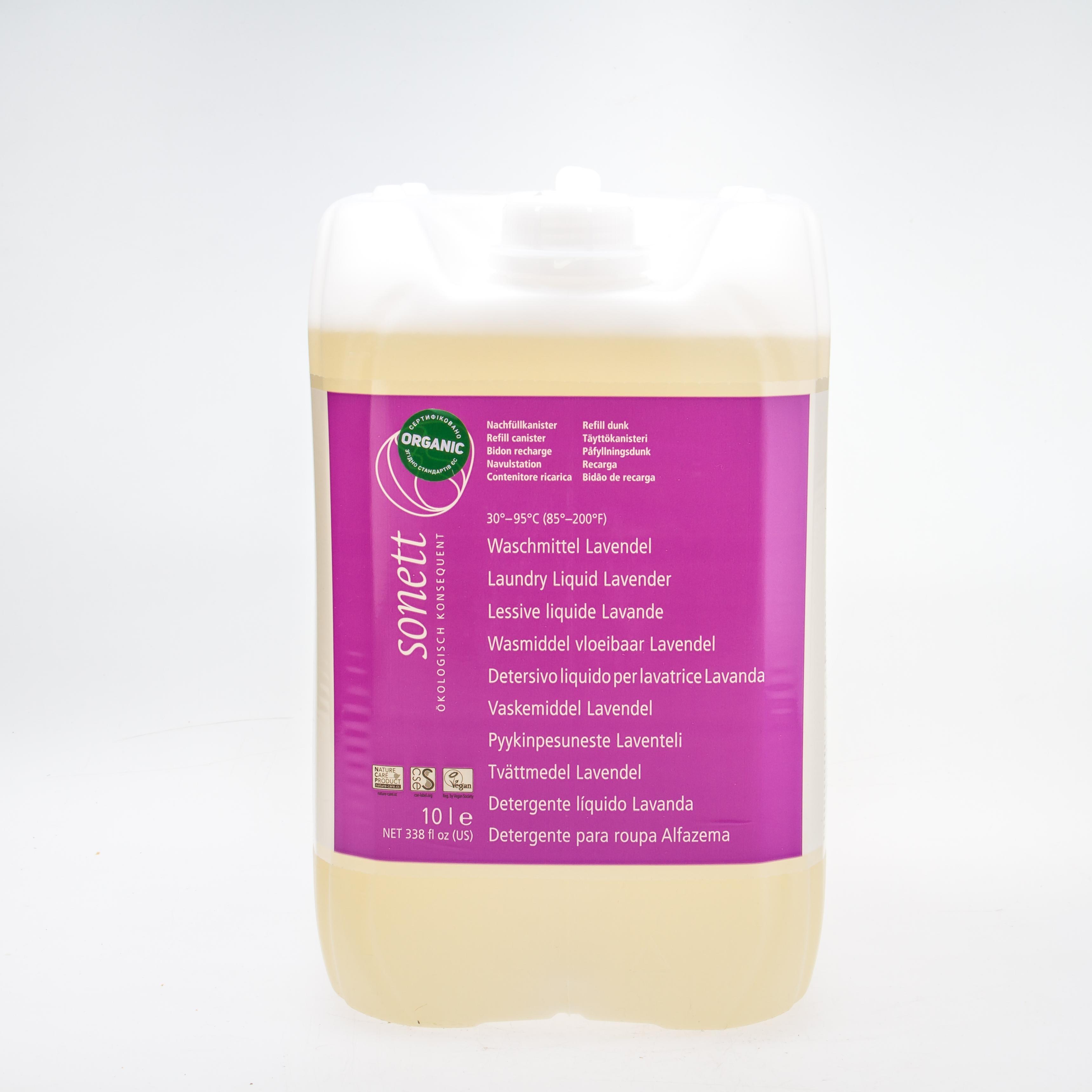 Sonett Органічний рідкий пральний засіб з ефірною олією лаванди. 10л. Концентрат - купить в интернет-магазине Юнимед