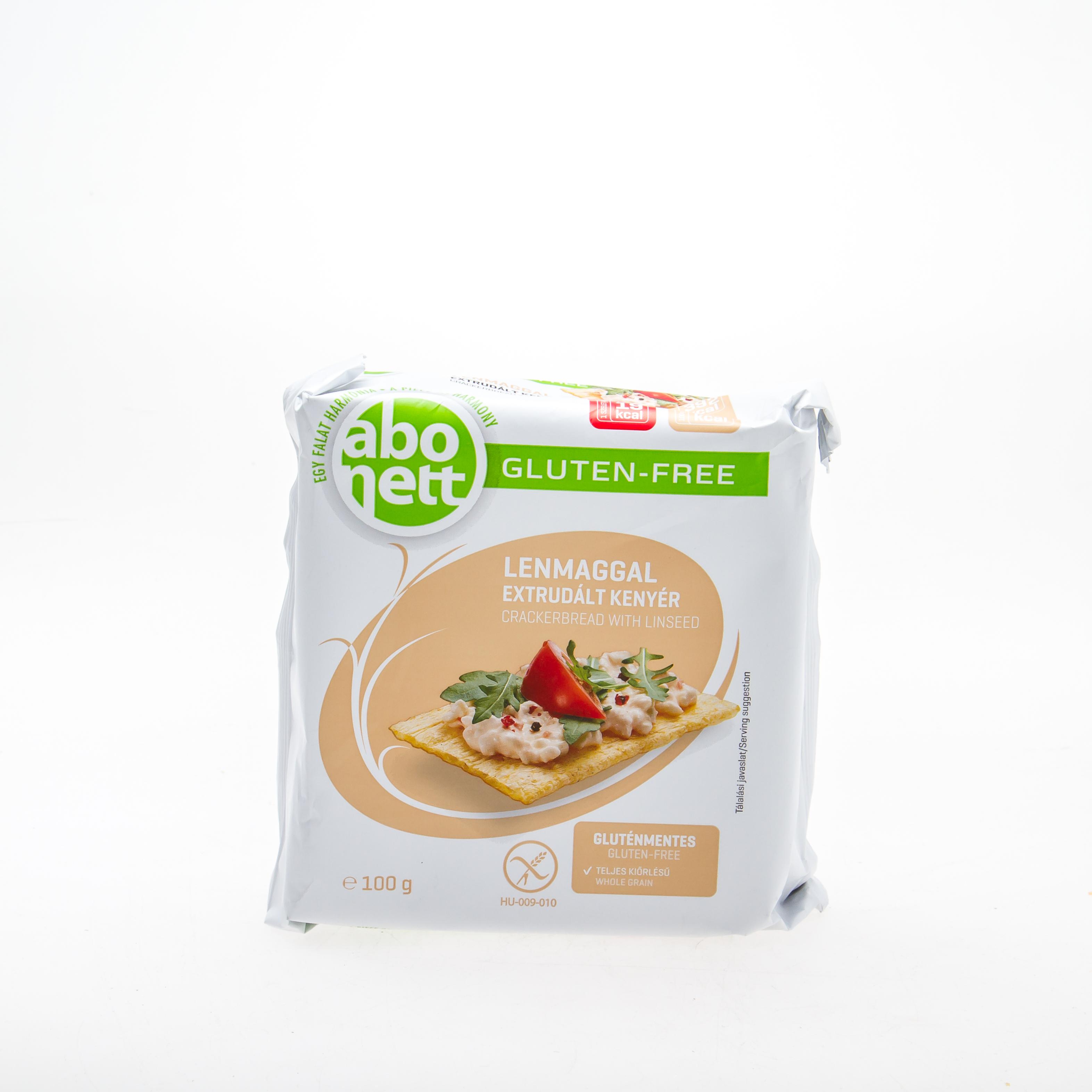 ABONETT  Хлібці з насінням льону (без глютену), 100 г - купить в интернет-магазине Юнимед