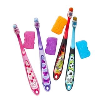 Дитяча зубна щітка Jordan Step3  6-9 років (м`яка)  з ковпачком для подорожей - купить в интернет-магазине Юнимед