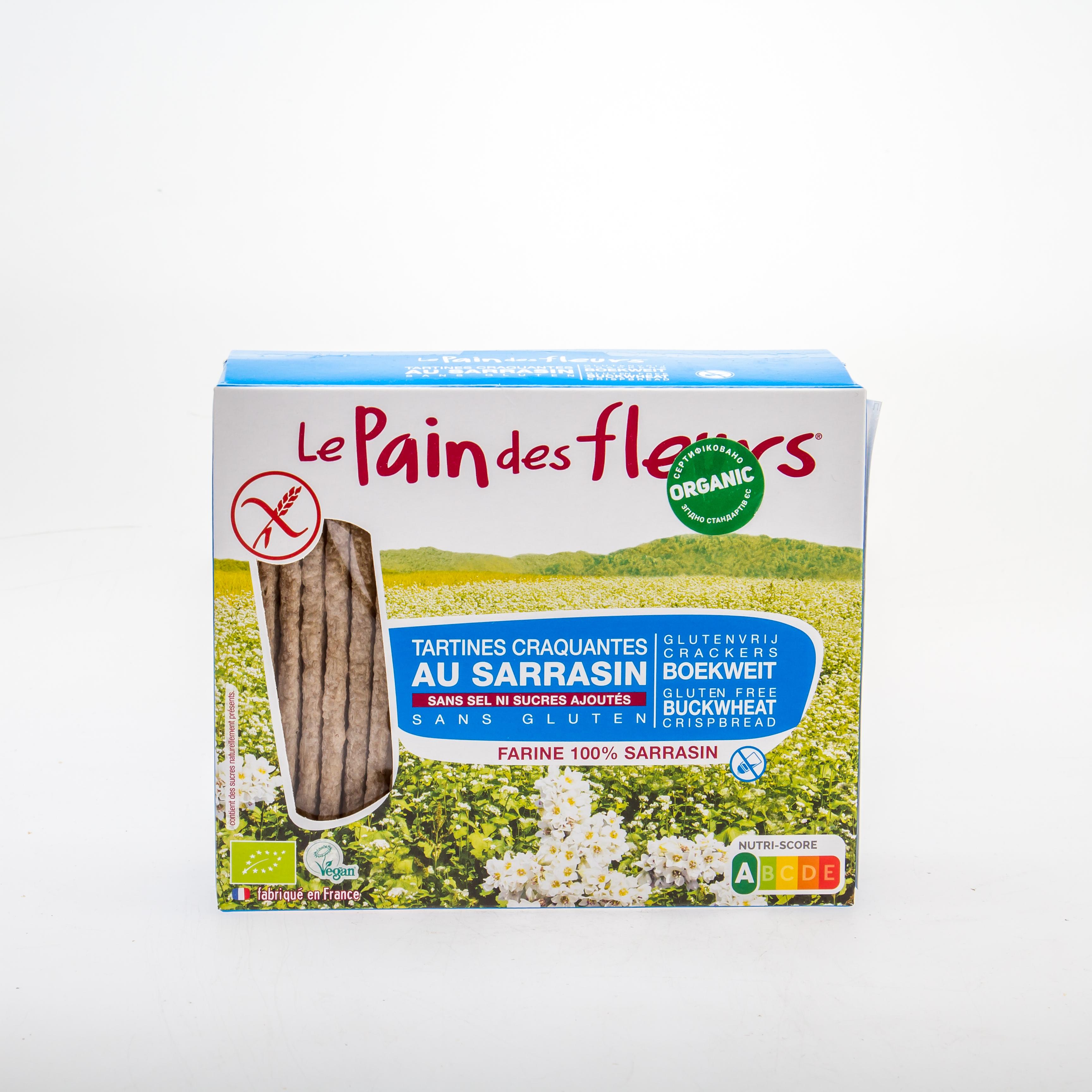 Органічні хрусткі хлібці з гречки (без глютену) без солі і цукру,150 г - купить в интернет-магазине Юнимед
