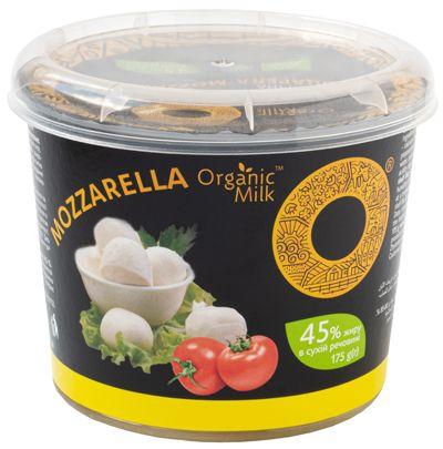 Сир м'який органічний «Моцарела»  45 %, 175 г - купить в интернет-магазине Юнимед
