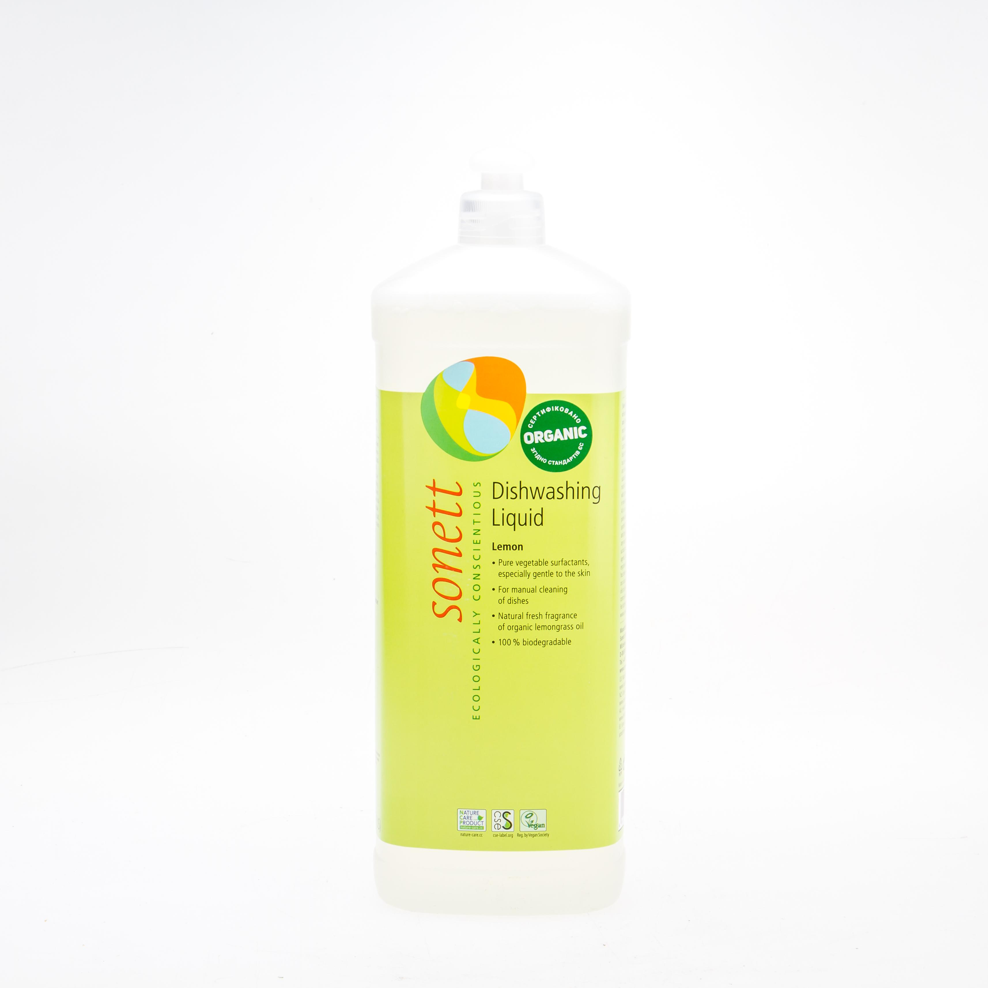 Sonett органічний засіб для ручного миття посуду з ефірною олією лимонника. Концентрат, 1 л - купить в интернет-магазине Юнимед
