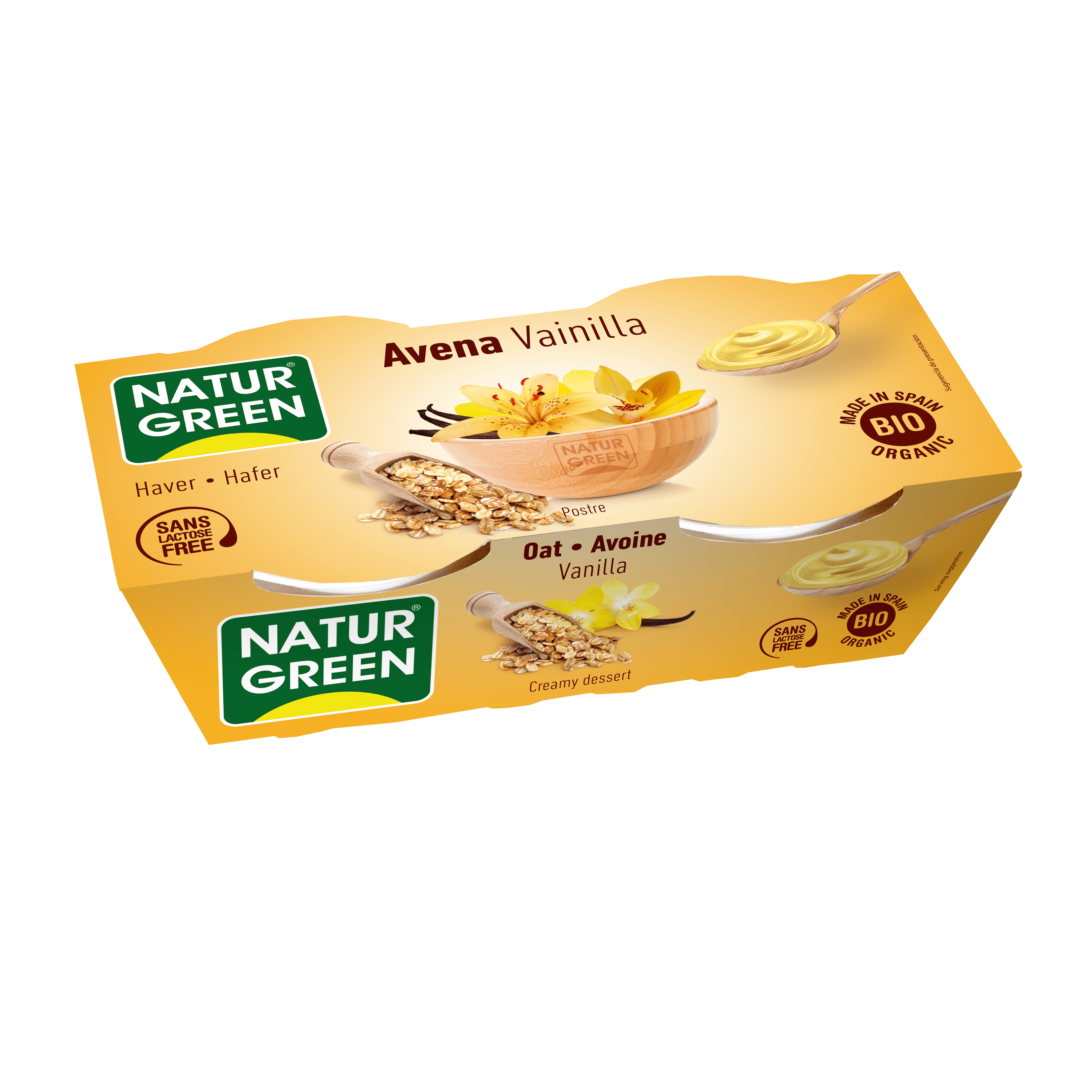 Органічний рослинний десерт з вівса з ваніллю, 125гр х 2 - купить в интернет-магазине Юнимед