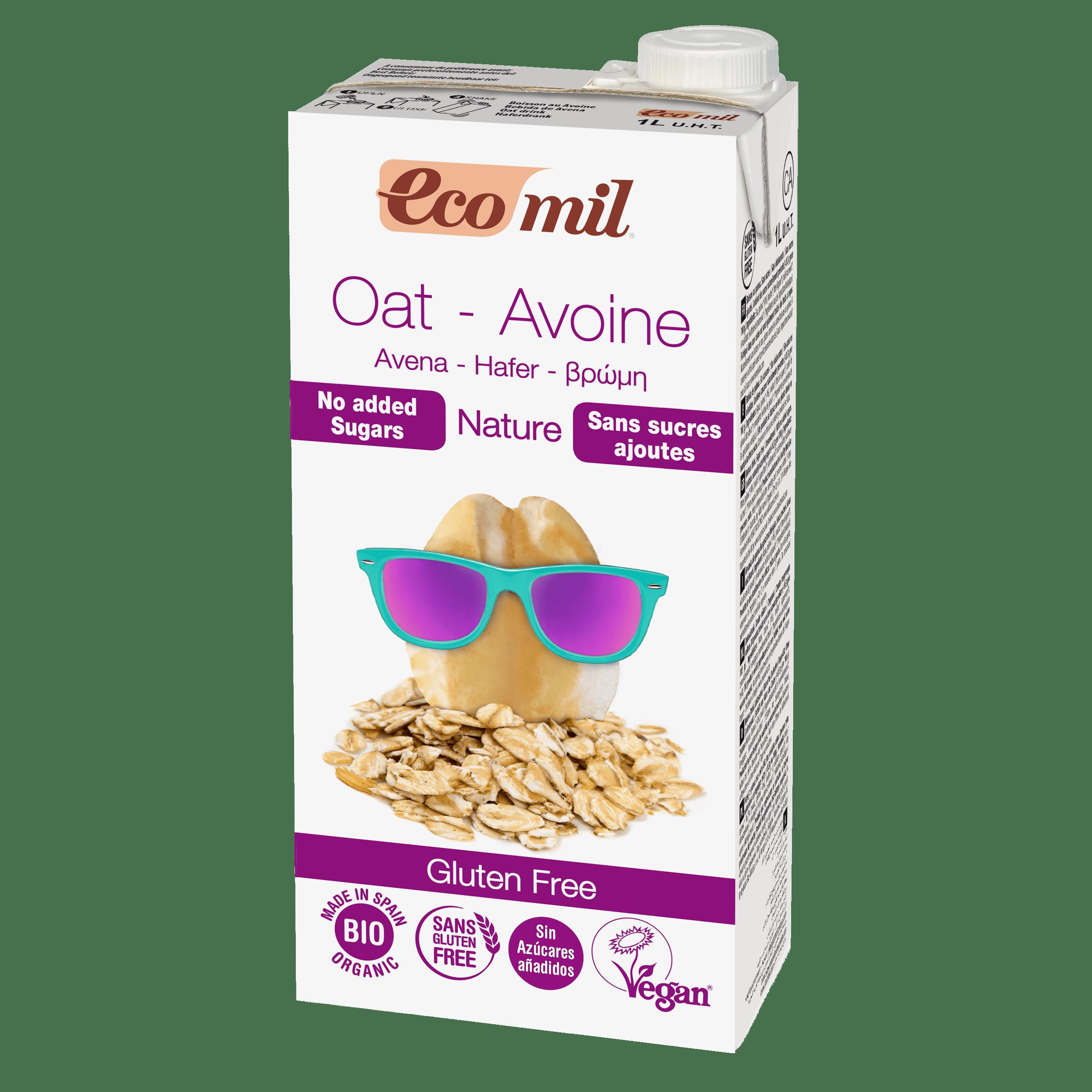 Органічне рослинне молоко з вівса без додавання цукру без та глютену, 1л - купить в интернет-магазине Юнимед