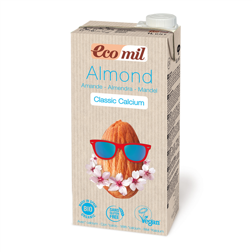 Органічне рослинне молоко з мигдалю з кальцієм, 1 л - купить в интернет-магазине Юнимед