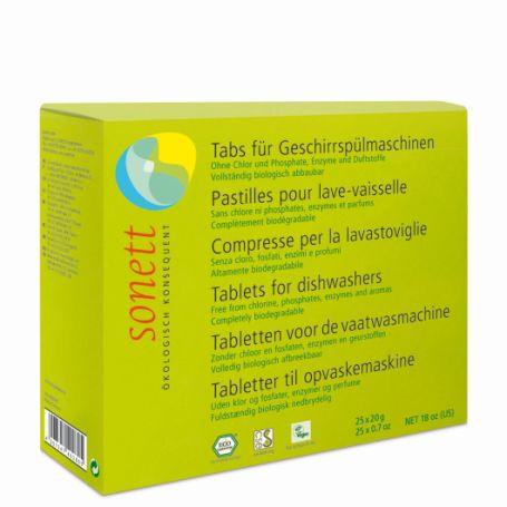 Sonett органічні таблетки для посудомийних машин. 25шт. - купить в интернет-магазине Юнимед