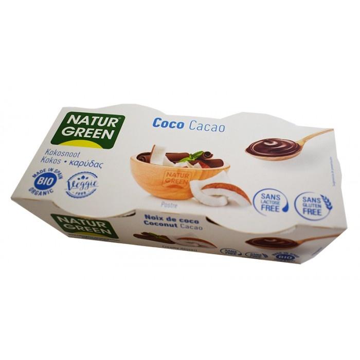 Органічний рослинний десерт з кокосом та какао,125гр х 2, - купить в интернет-магазине Юнимед