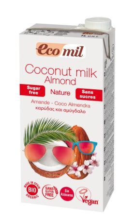 Органічне рослинне молоко Кокос-Мигдаль. Без цукру. 1л - купить в интернет-магазине Юнимед