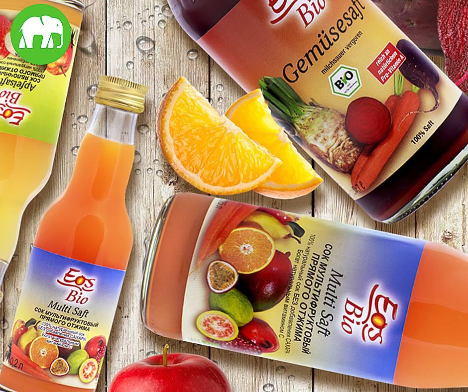 100% натуральні органічні соки EOS bio