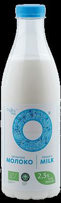 Молоко органічне пастеризоване 2,5 %, 1л - купить в интернет-магазине Юнимед