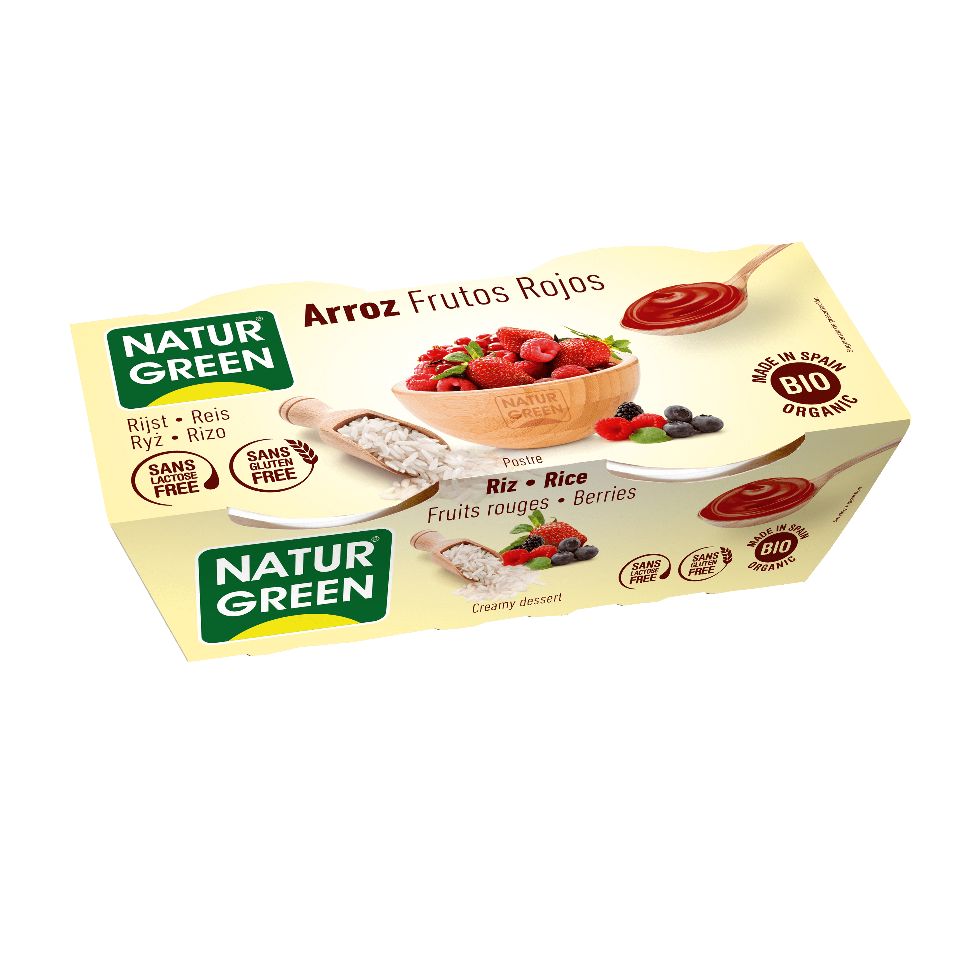 Органічний рослинний десерт з рису з червоними фруктами, 125гр х 2 - купить в интернет-магазине Юнимед