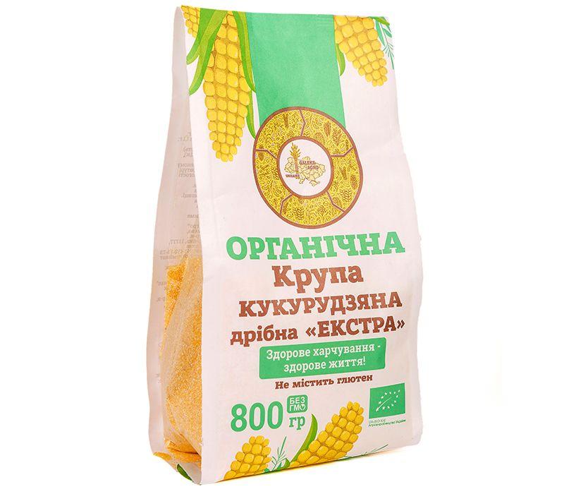 Galeks-Agro  Органічна крупа кукурудзяна