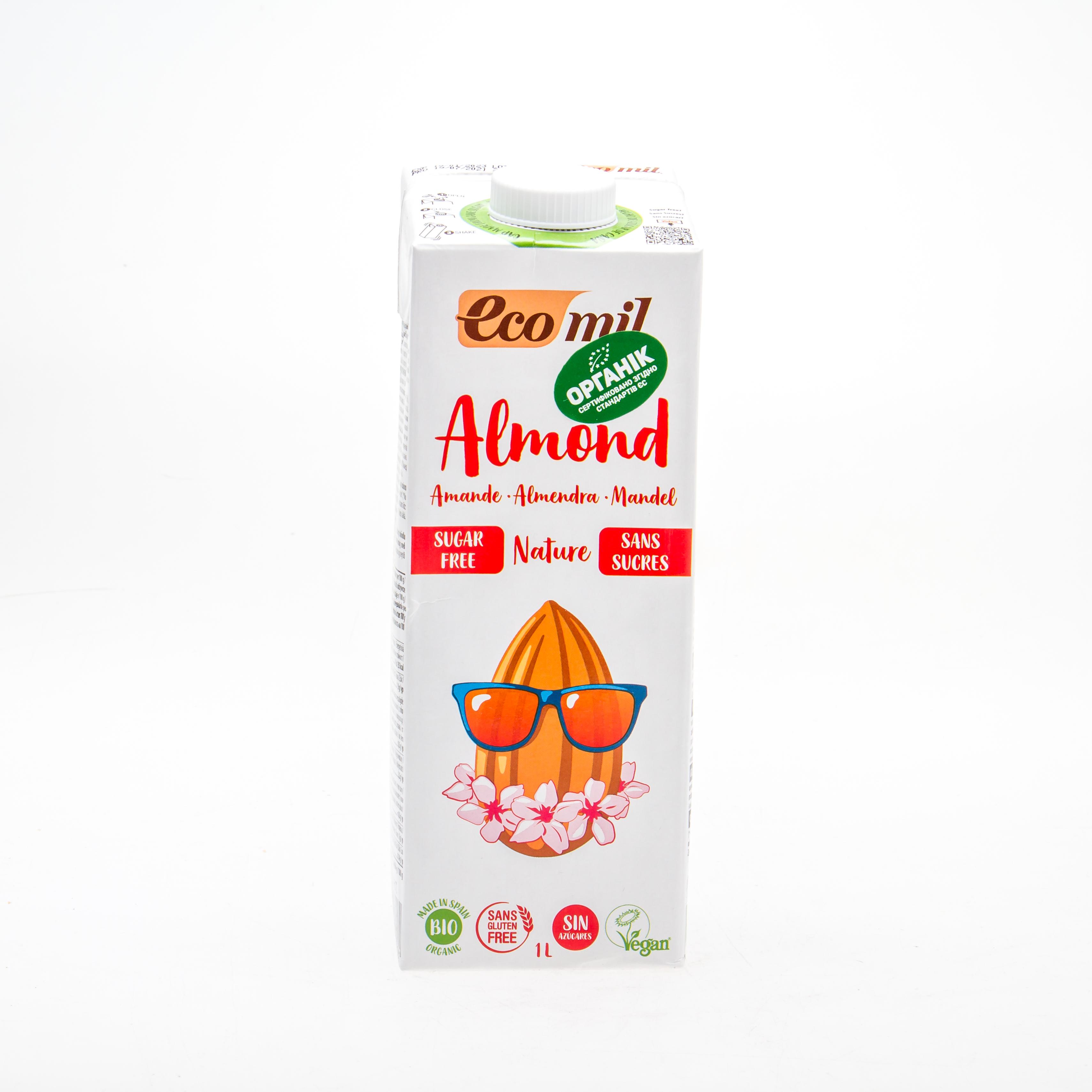 Органічне рослинне молоко з мигдалю без цукру 1л - купить в интернет-магазине Юнимед