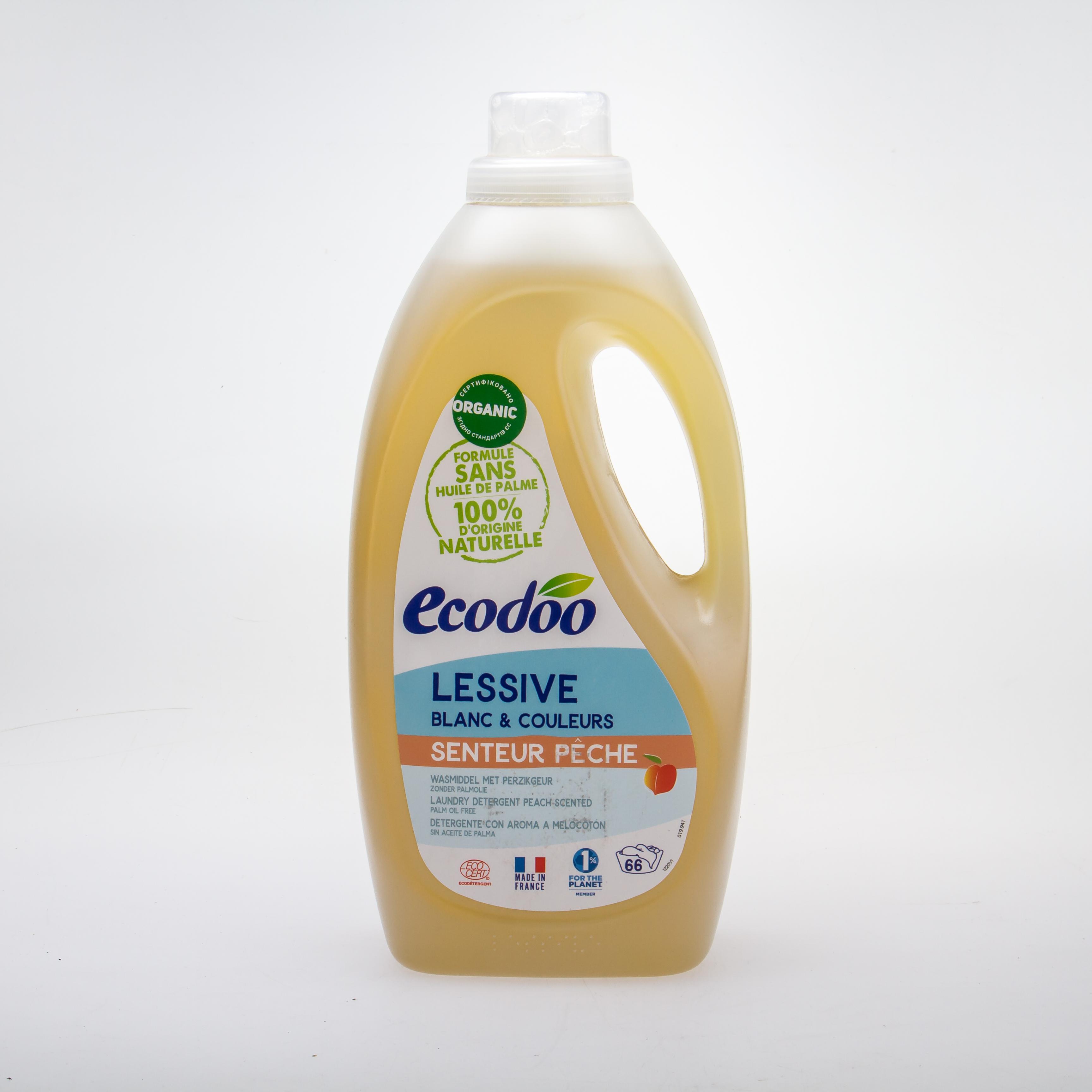 Ecodoo Органічний рідкий пральний засіб «Персик» 2L - купить в интернет-магазине Юнимед