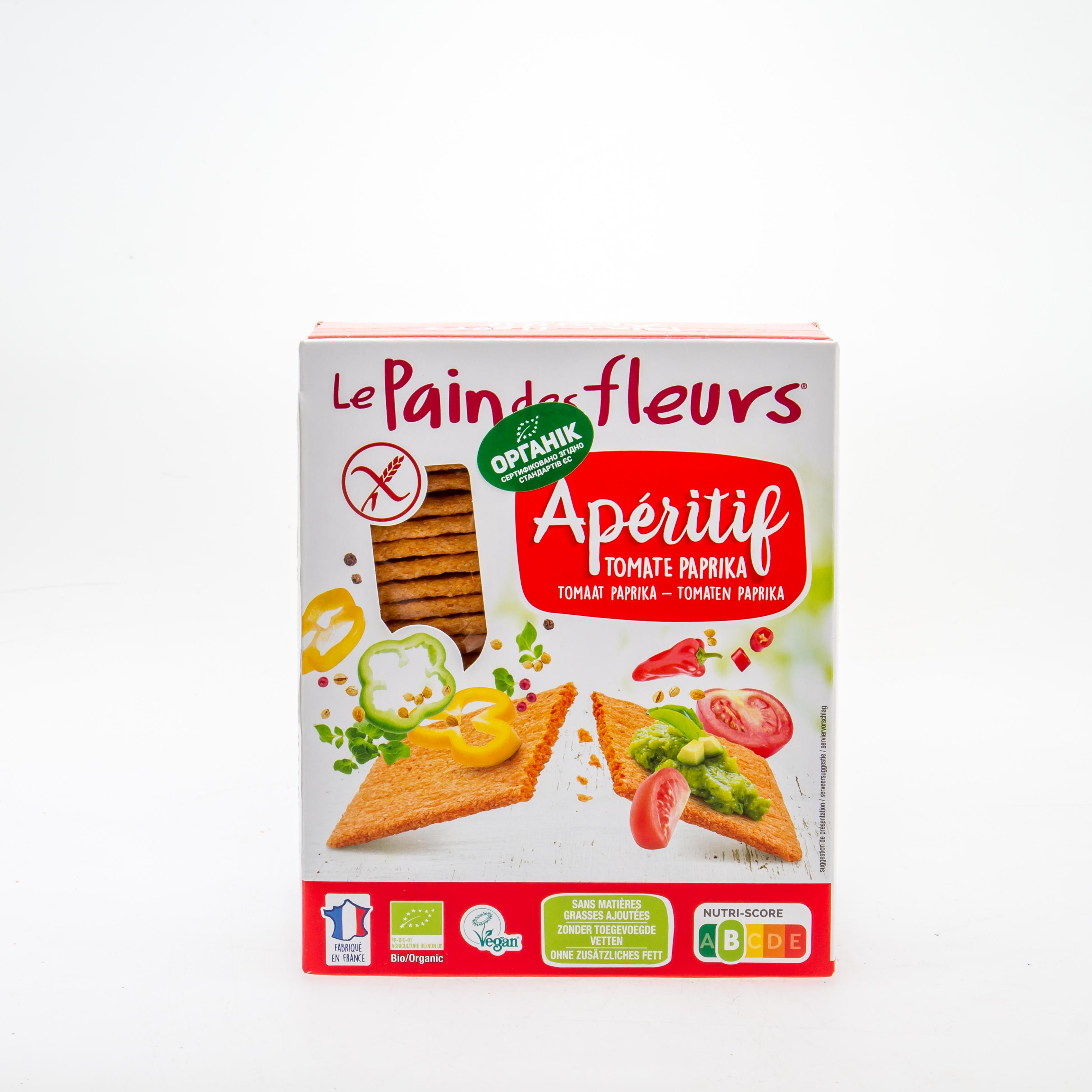 Органічні хрусткі хлібці з паприкою та помідором (без глютену) 150 гр. - купить в интернет-магазине Юнимед