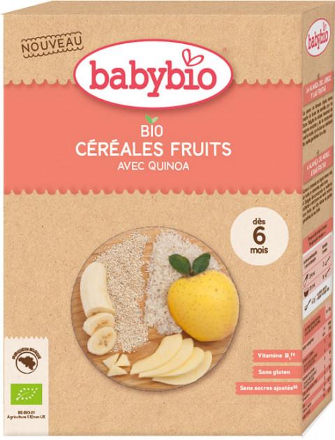 BabyBio Дитяче харчування: Каша органічна злакова з фруктами та кіноа від 6 місяців 200 гр - купить в интернет-магазине Юнимед