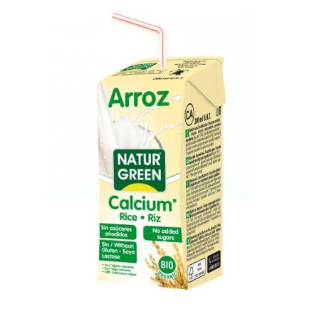 Органічне рослинне молоко з рису 200мл без цукру з морськими вапняними водоростями - купить в интернет-магазине Юнимед