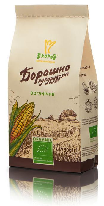 Борошно кукурудзяне органічне, Екород, 750 г - купить в интернет-магазине Юнимед