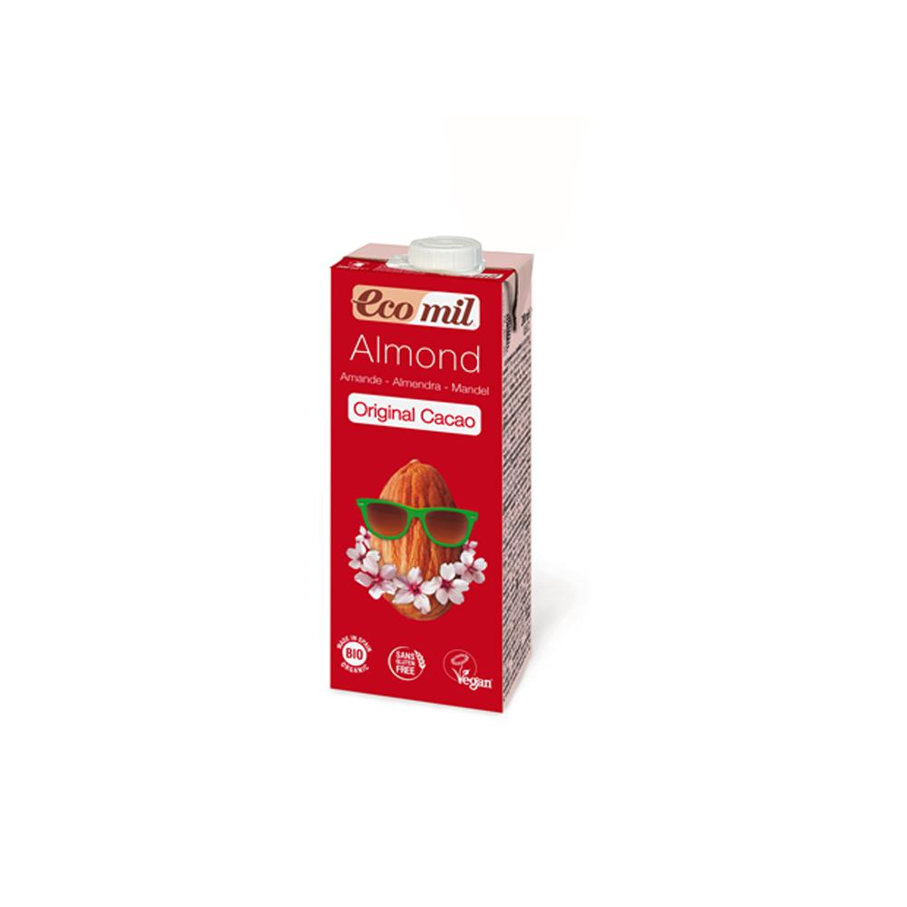 Органічне рослинне молоко з мигдалю з сиропом агави і з какао, 200мл - купить в интернет-магазине Юнимед