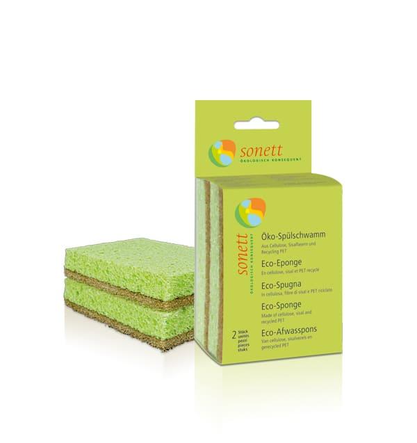 Sonett еко губка для миття посуду, 2 шт - купить в интернет-магазине Юнимед