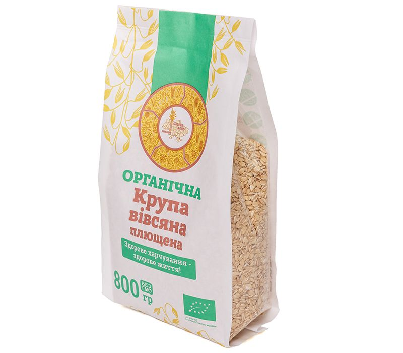 Galeks-Agro  Крупа вівсяна плющенна органічна, 800 г - купить в интернет-магазине Юнимед