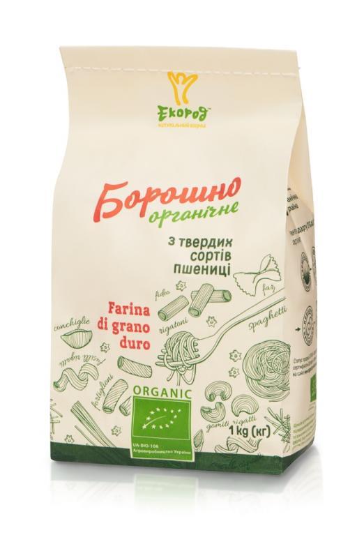 Борошно з твердих сортів пшениці органічне, Екород, 1кг - купить в интернет-магазине Юнимед