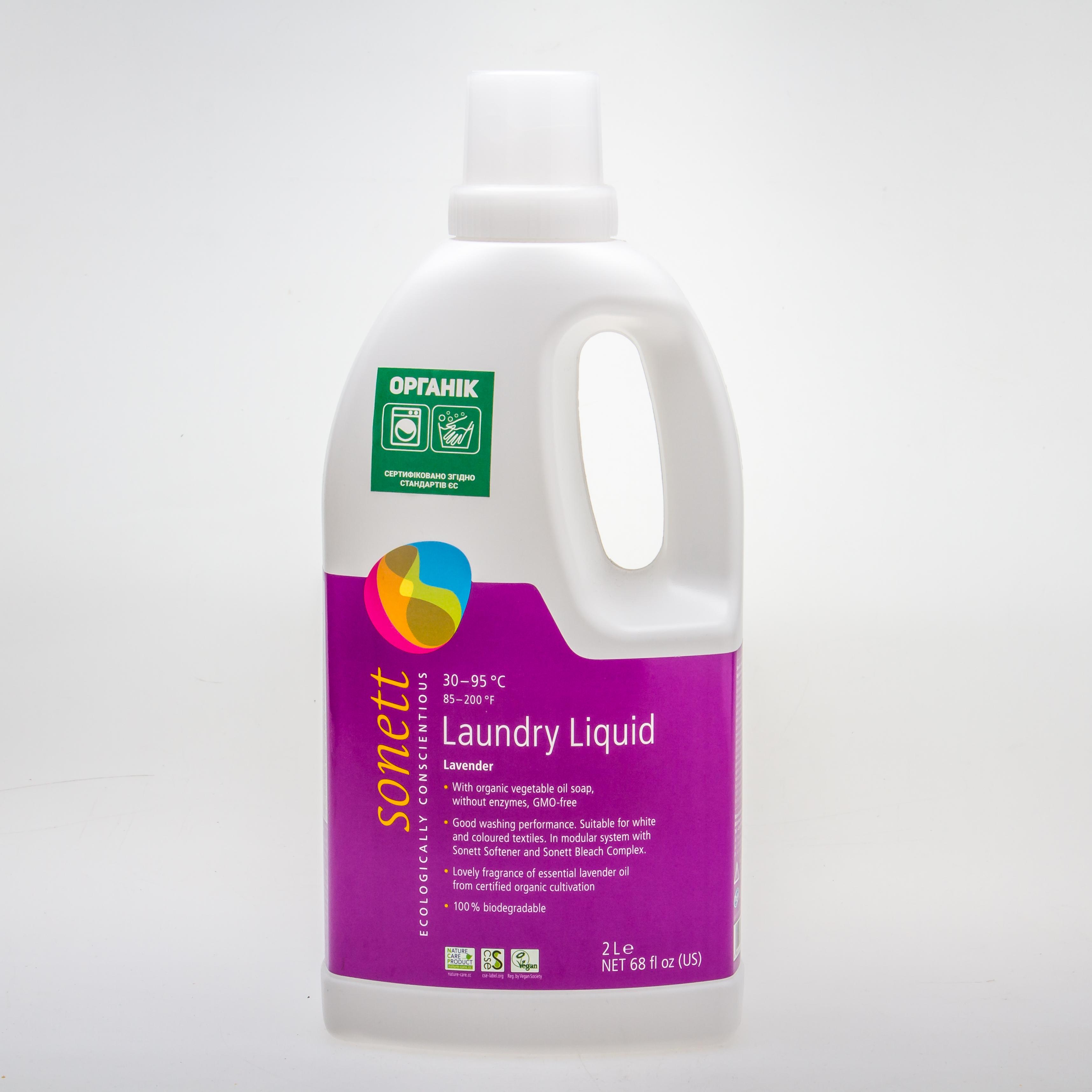 Sonett органічний рідкий пральний засіб. Концентрат, 2 л - купить в интернет-магазине Юнимед