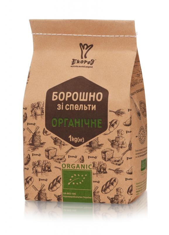 Борошно зі спельти органічне, Екород, 1кг - купить в интернет-магазине Юнимед