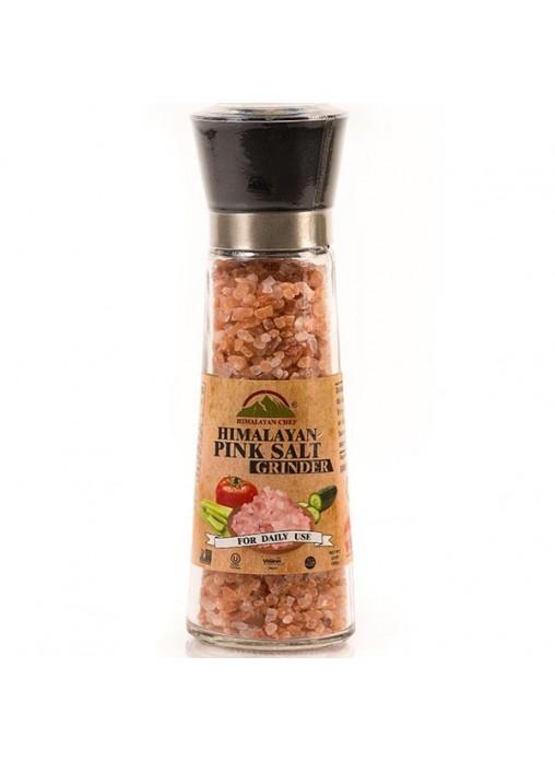 Натуральна Гімалайська рожева сіль, 180гр. Крупна. Млинок керамічний. - купить в интернет-магазине Юнимед
