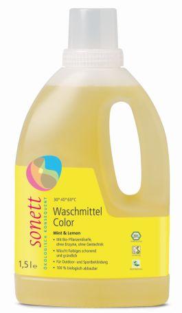 Sonett органічний рідкий пральний засіб для кольорових тканин. 1,5л. Концентрат - купить в интернет-магазине Юнимед