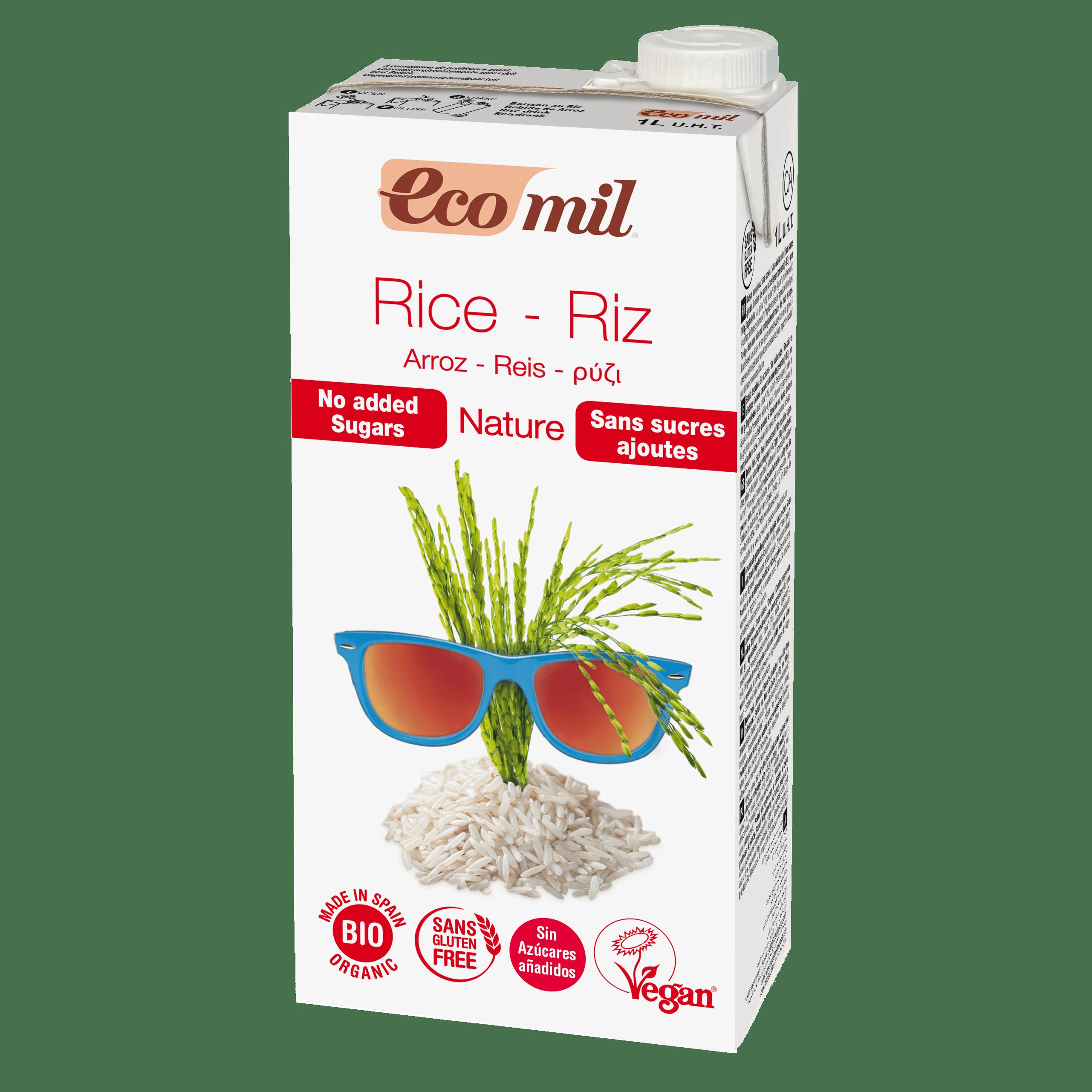 Органічне рослинне молоко з рису без додавання цукру, 1л - купить в интернет-магазине Юнимед